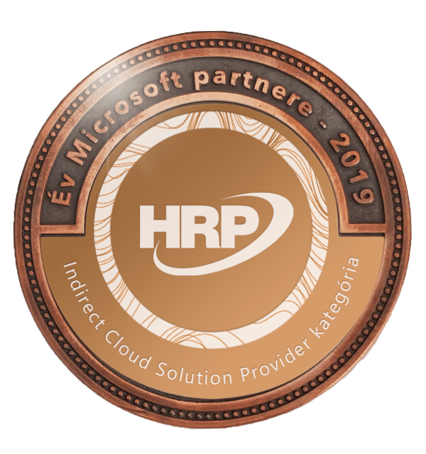 Év Microsoft Partnere - 2019 - Indrekt Cloud Solution Provider - HRP Europe Kft.